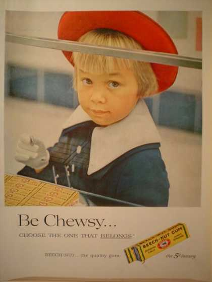 Beech Nut Gum Be Chewsy Little Girl (1957)