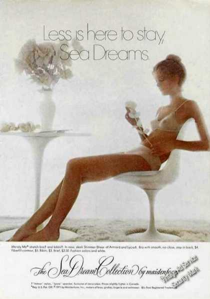 Sea Dream Collection By Maidenform Pretty Girl (1971)