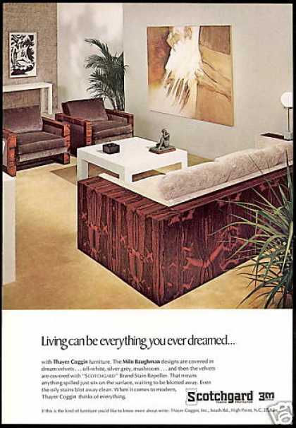 Thayer Coggin Furniture Baughman Design 3m (1968)