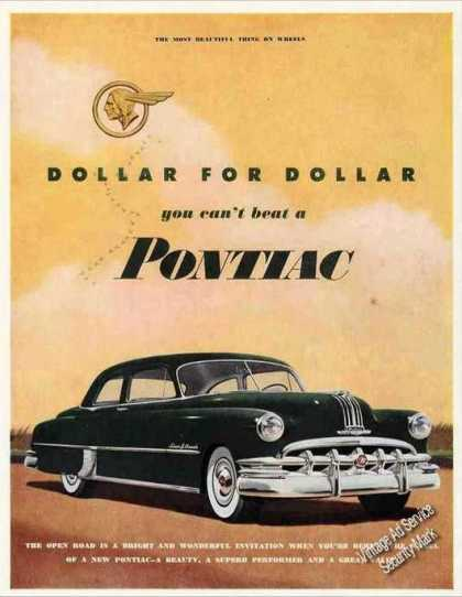 "Pontiac ""Dollar for Dollar You Can't Beat"" (1950)"
