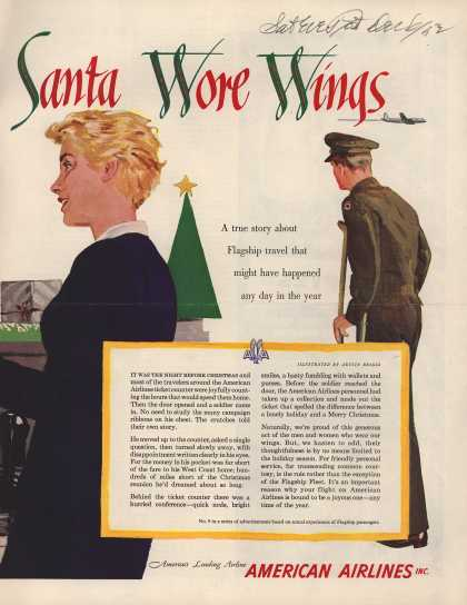 American Airline's Friendly year-round service – Santa Wore Wings (1952)