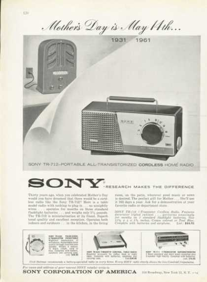 Sony Portable Transistor Pocket Home Radio (1961)