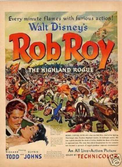 "Movie Ad Walt Disney's ""Rob Roy"" (1953)"