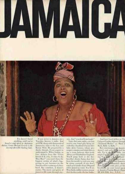Jamaica Travel Ad Louise Bennett Coverly Photo (1963)