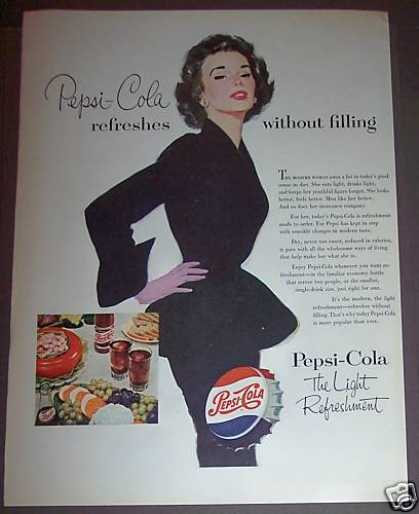Pepsi-cola Soda Drink Pretty Woman (1953)