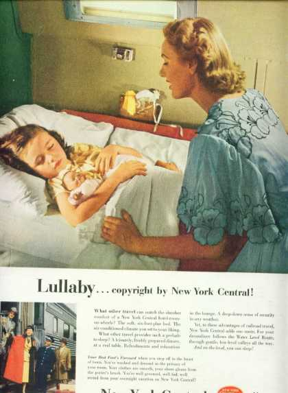 New York Central Ad Girl Asleep In Berth (1952)
