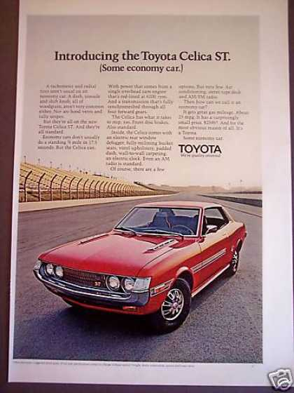 Toyota Celica St Red Sports Car Photo (1971)