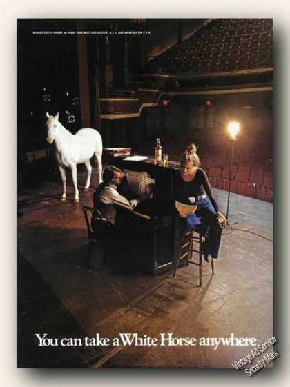 White Horse On Theater Stage Color Whiskey Promo (1974)