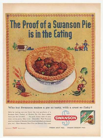 Swanson Beef Pie Proof is in Eating (1958)
