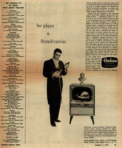 Andrea Radio Corporation's Andrea Catalina – He plays a Stradivarius (1956)