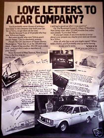 Volvo Owners Love Letters Car (1978)