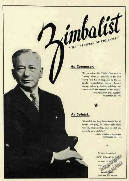 """Efrem Zimbalist """"The Patrician of Violinists"""" (1948)"""