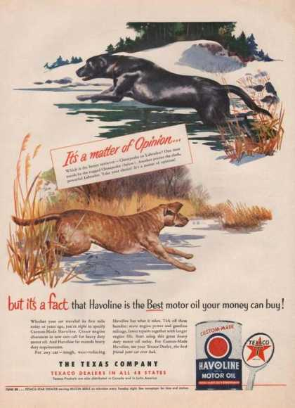 Havoline Motor Oil Texaco (1951)