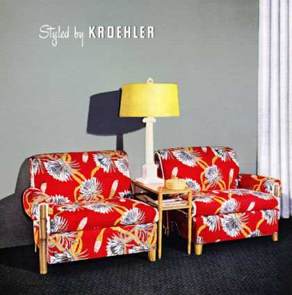 So Refreshingly New! Kroehler Cushionized Furniture (1946)