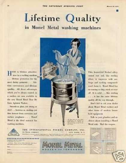 Monel Metal Thor Washing Machine (1930)