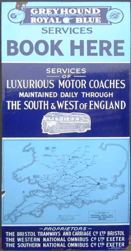 Greyhound and Royal Blue Coaches