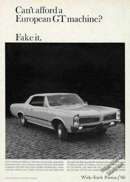 "Wide-track Pontiac ""Fake It"" (1966)"