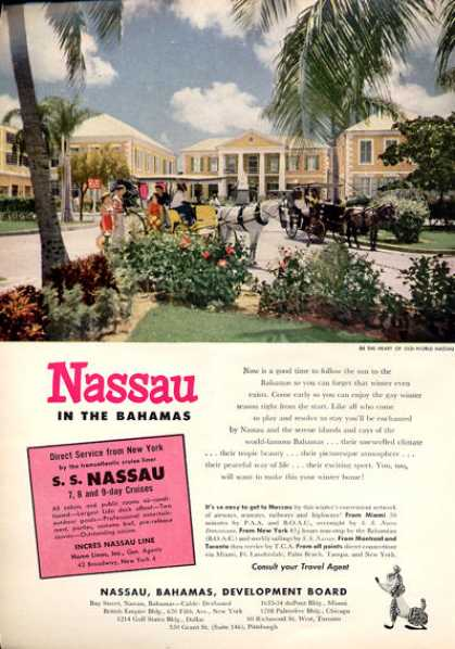 Heart of Nassau Bahamas Travel (1953)