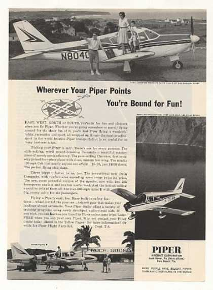 Piper Comanche Aztec B Cherokee Airplane Photo (1963)