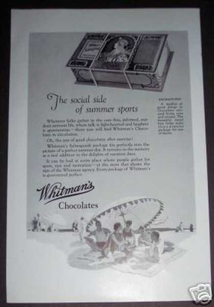 Original Whitman's Salmagundi Chocolates Candy (1926)