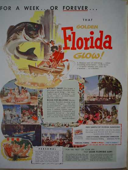 Florida Tourism Vacation promotional (1954)