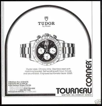 Rolex Tudor Oyster Date Watch Tourneau (1989)