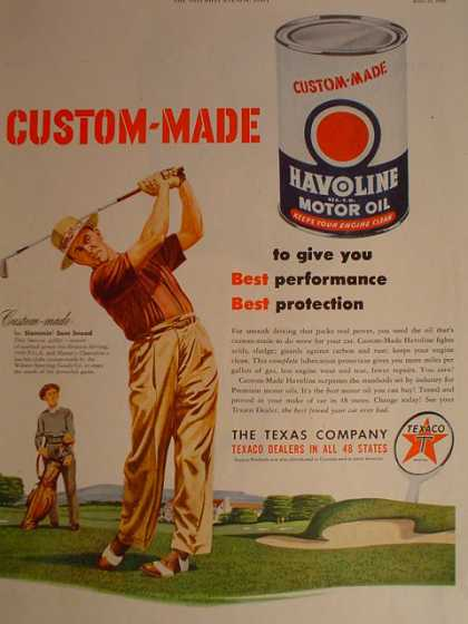 Havoline Motor Oil Golfer Sam Snead Golf theme (1950)