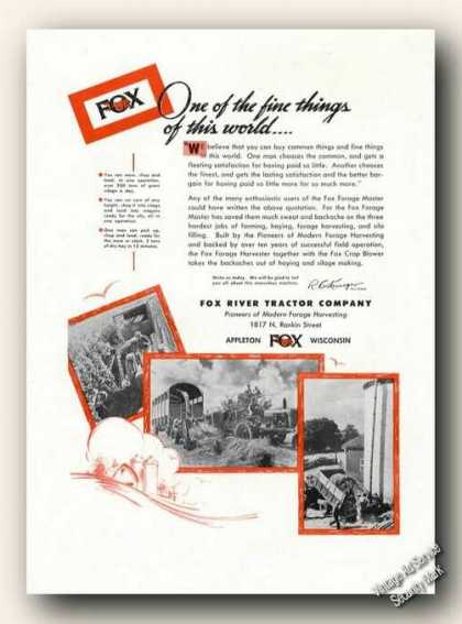 Fox Forage Harvester Farm Advertising (1948)
