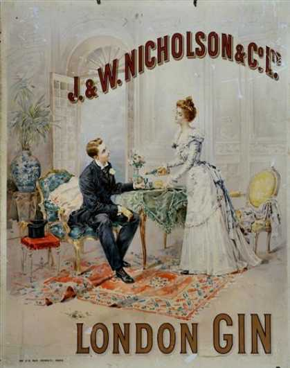 Gin – J. & W. Nicholson & Co Ltd Sign