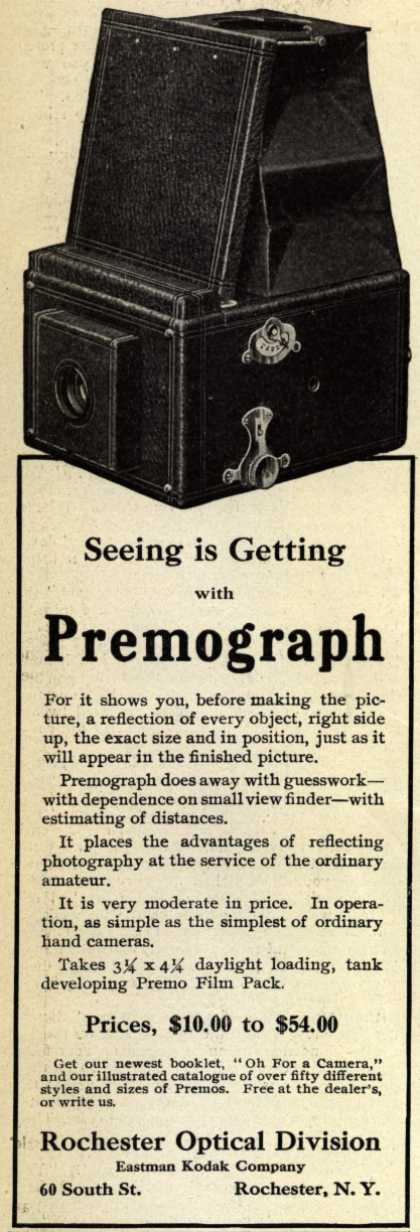 Kodak&#8217;s Premograph &#8211; Seeing is Getting with Premograph (1908)