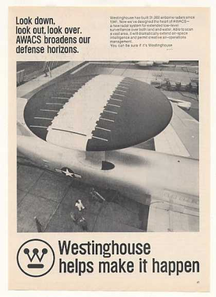Westinghouse AWACS Radar System Photo (1973)