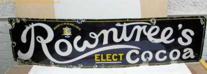 Rowntrees Strip Enamel Sign