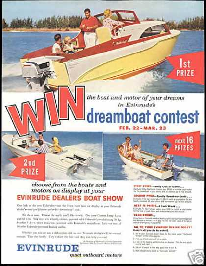 Evinrude Outboard Boat Motor Contest Photo (1958)