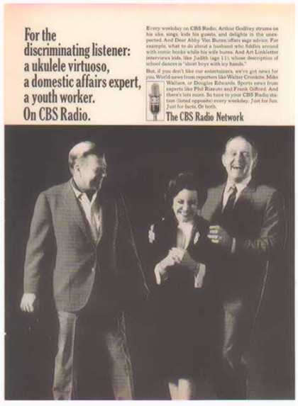 CBS Radio Network – Arthur Godfrey, Art Linkletter & Dear Abby (1966)