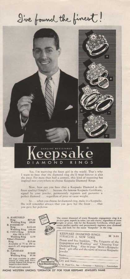 Keepsake Diamond Rings (1955)