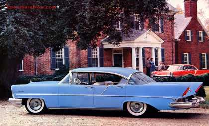 Lincoln Premiere four-door Landau at Evelynton Plantation, Virginia (1957)