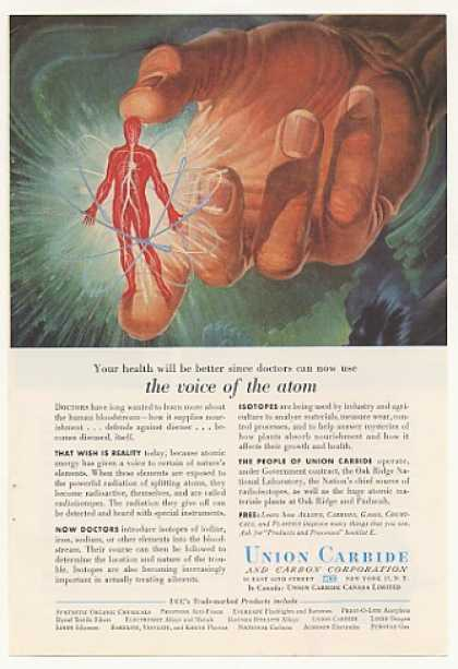 Union Carbide Atoms Radioisotopes Bloodstream (1955)