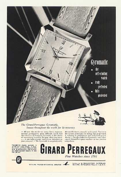 Girard Perregaux Gyromatic Square Watch (1952)