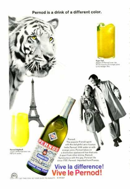 Pernod Pernod Fils Bottle (1966)
