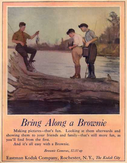 Kodak's Brownie cameras – Bring Along a Brownie (1923)