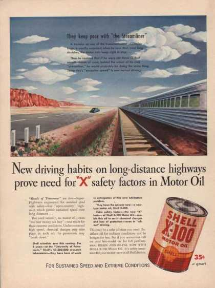 Pace With the Streamline Shell Motor Oil A (1941)