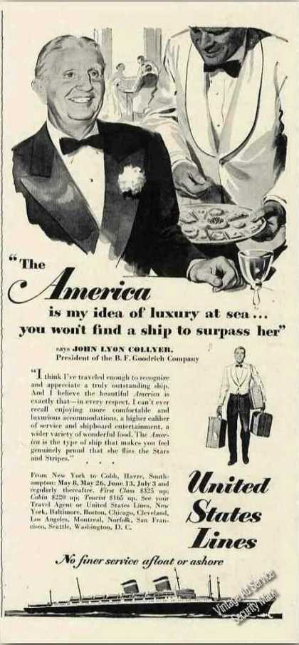 """America"" United States Line Ship John Collyer (1951)"