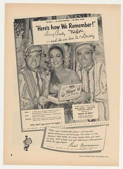 Bing Crosby Bob Hope Dorothy Lamour Whitman's (1952)