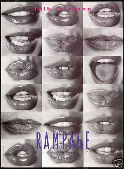 Rampage Fashion Talk Is Cheap Woman's Lips (1993)