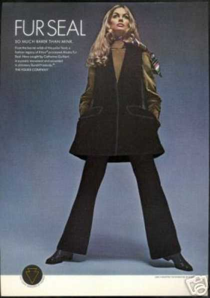 Fouke Seal Fur Jean Shrimpton Woman Photo (1969)
