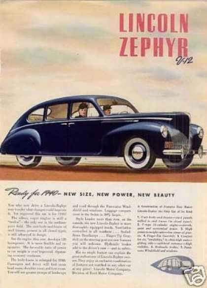 Lincoln-zephyr Car Color (1940)