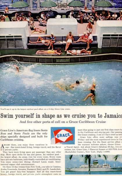 Grace Cruise Line Ship Boat Swim (1964)