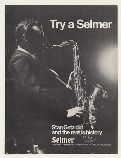 Stan Getz Selmer Saxophone Photo (1971)