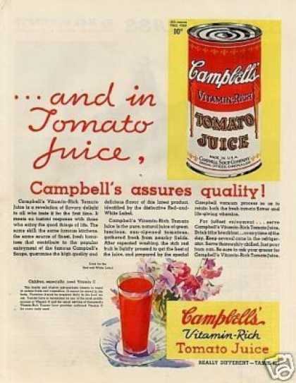 Campbell's Tomato Juice (1932)