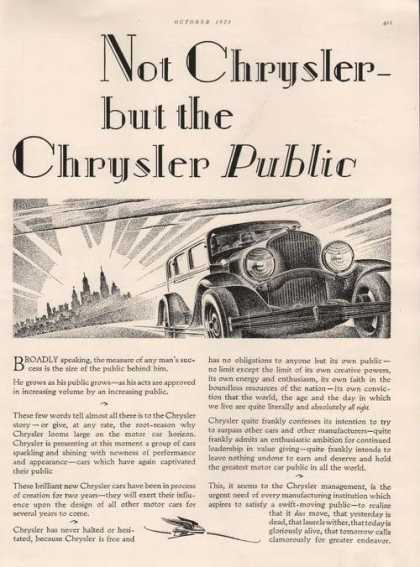 Not Chrysler But the Chrysler Public Car A (1928)